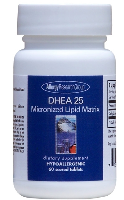 DHEA 25; ARG; 60 micronized lipid matrix tablets
