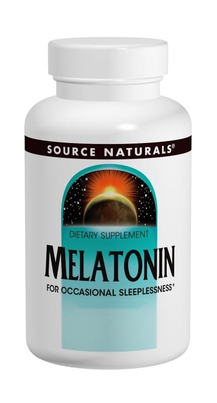 Melatonin; Source Naturals; 2.5 mg; 120 sublingual tablets