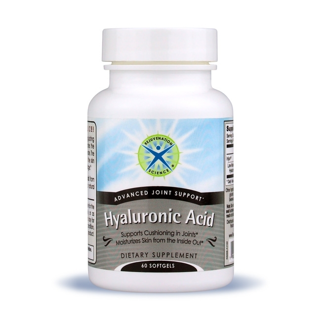 Hyaluronic Acid; Rejuvenation Science; 70 mg; 60 softgels