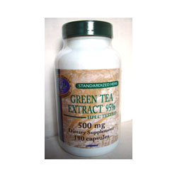 Green Tea Extract; Nat; 500 mg; 180 capsules