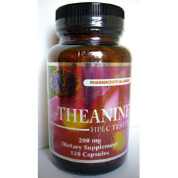 L-Theanine; Nat; 200 mg; 120 capsules
